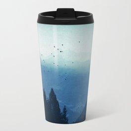 Blue Valmalenco - Alps at sunrise Travel Mug