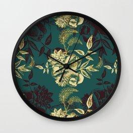 Illustrations of Florals Wall Clock