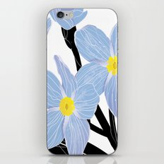 'I think of you Bernie' / Forget-me-not iPhone & iPod Skin