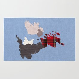 British Isles Fabric Map Art Rug
