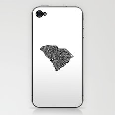 Typographic South Carolina iPhone & iPod Skin