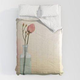 Flowers in Glass Comforters