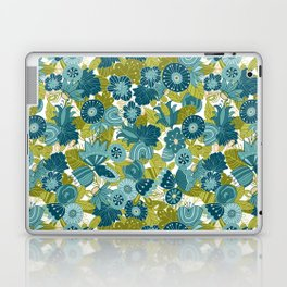 Whimsical Blue and Green Floral Laptop & iPad Skin