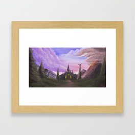 Path to Hyrule  Framed Art Print