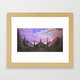 Path to Hyrule  Framed Art Print