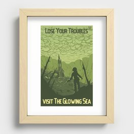 Lose Your Troubles in the Glowing Sea Recessed Framed Print