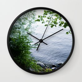 Sunset at the Lakefront Wall Clock