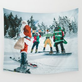 Santa Claus in the snow Wall Tapestry
