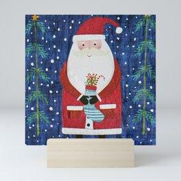 Santa with Stocking Mini Art Print