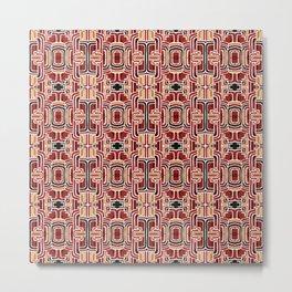 Retro nonfigurative seventies pattern Metal Print