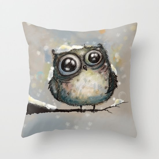 let it snow Throw Pillow