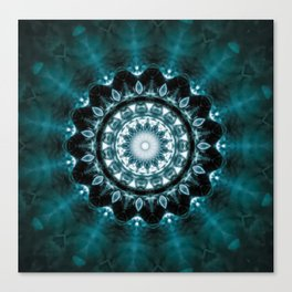 Cool Deep Mandala Canvas Print