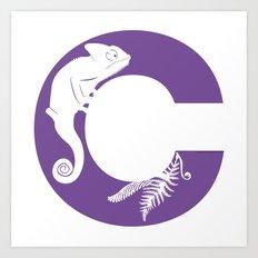 C is for Chameleon - Animal Alphabet Series Art Print