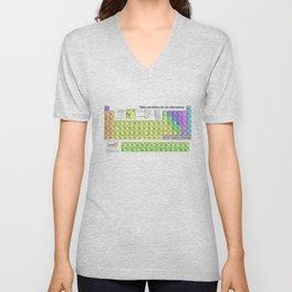 Tabla Periodica De Los Elementos (Periodic Table of Elements in Spanish) Unisex V-Neck