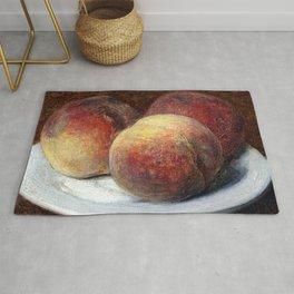 Henri Fantin Latour Three Peaches on a Plate Rug