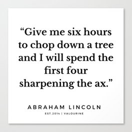 5  | Abraham Lincoln Quotes | 190913 Canvas Print