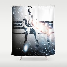 FORREST ON A BENCH & COSMOS Shower Curtain