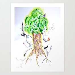 Liz Leaves the Nest Art Print