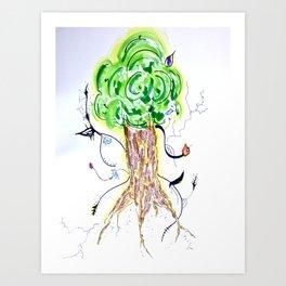 Liz Leaves the Nest Art Print