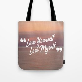 BTS: Love yourself, love myself Tote Bag