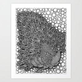 Peacock the Fan by Kent Chua Art Print