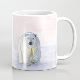 Polar bear in the icy dawn Coffee Mug