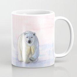 Polar bear in the icy dawn Coffee Mug