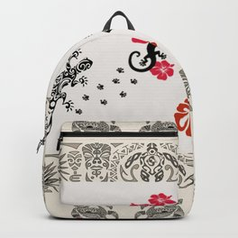 Traditional Hawaiian Icons Print Backpack