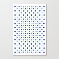 Dots / White Canvas Print