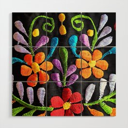 Mexican Flowers Wood Wall Art