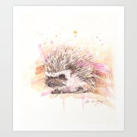 """sonic youth Art Prints featuring """"Sonic"""" by PaintedBunting"""