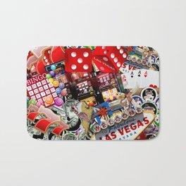 Gamblers Delight - Las Vegas Icons Bath Mat