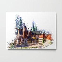 Cracow Wawel Castel Metal Print
