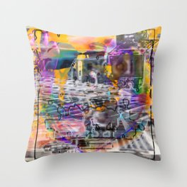 "Lost The Plot In The Last Quarter (or Art Instructors Hate The Term ""Cathartic"", So...) Throw Pillow"