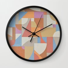 1 Inch Manila Grid Wall Clock