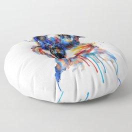 Schnauzer Head Watercolor Portrait Floor Pillow