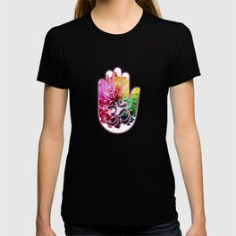 Zen Ohm Hamsa Colorful Flower T-shirt