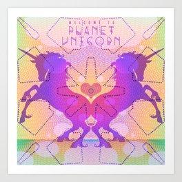 PLANET UNICORN Art Print