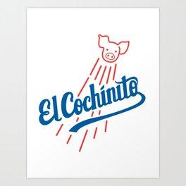 El Cochinito LA logo Art Print
