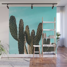 Cactus Photography Print {1 of 3} | Teal Succulent Plant Nature Western Desert Plants  Design Decor Wall Mural