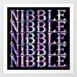 Niibble, Nibble, Nibble, Nibble Art Print
