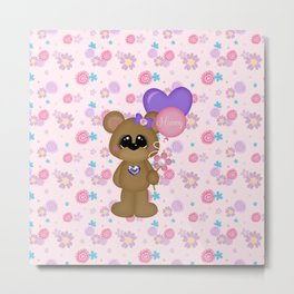 Mommy Bear Loves his Mommy Metal Print