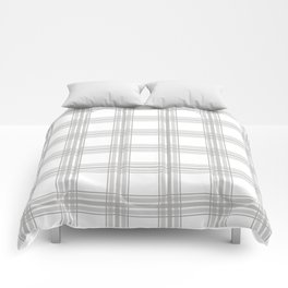 Farmhouse Plaid in Gray and White Comforters