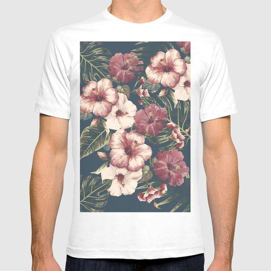 Flower pattern A T-shirt