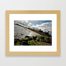 View from the Fort Pierce Jetty Framed Art Print