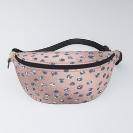 Glam Pink and Blue Faux Jewel Confetti Pattern Fanny Pack