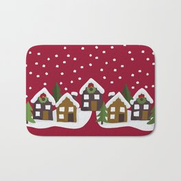 Winter idyll Bath Mat