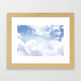 Just Clouds Framed Art Print