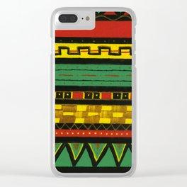 Rasta Knit Clear iPhone Case