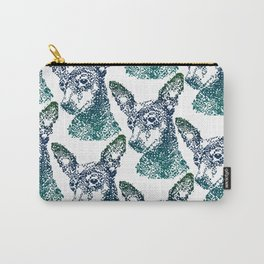 Min Pin Blue Mosaic Carry-All Pouch